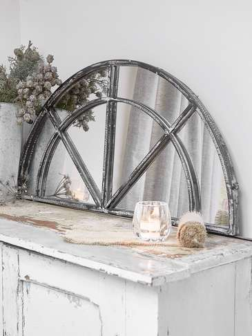 Loft Style Window Mirror Silver Industrial Mirror 4