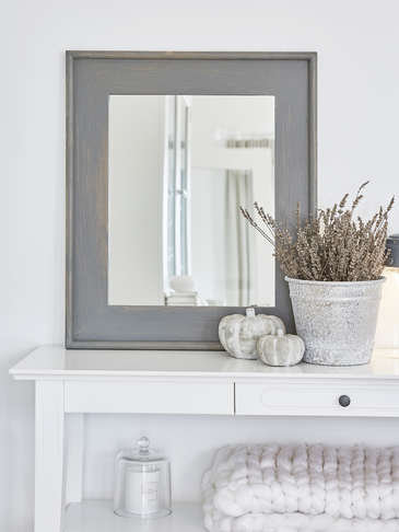 Grey Wooden Mirror