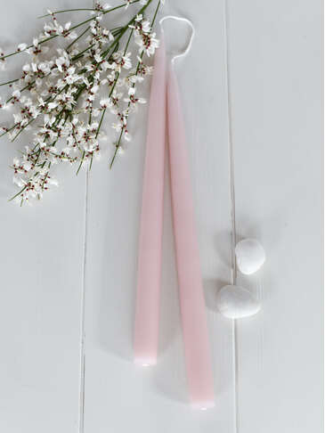 Tapered Dinner Candle - Soft Pink