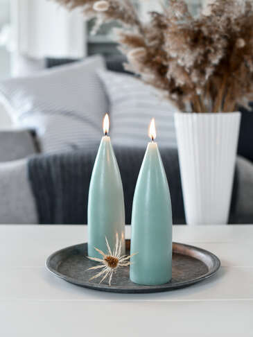 Danish Cone Candle - Soft Green