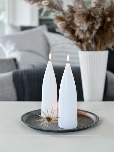 Danish Cone Candle - Pure White