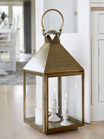 Extra Large Antique Brass Lantern