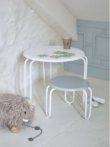 Nordic Kids Hairpin Table - White