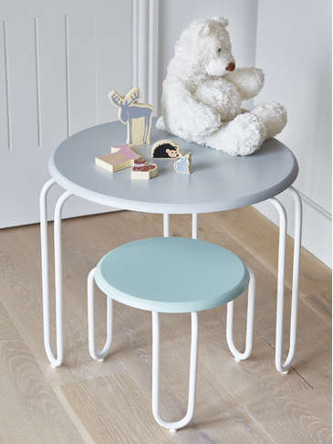 Nordic Kids Hairpin Table - Grey