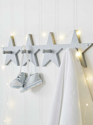 Star Coat Rack - Grey