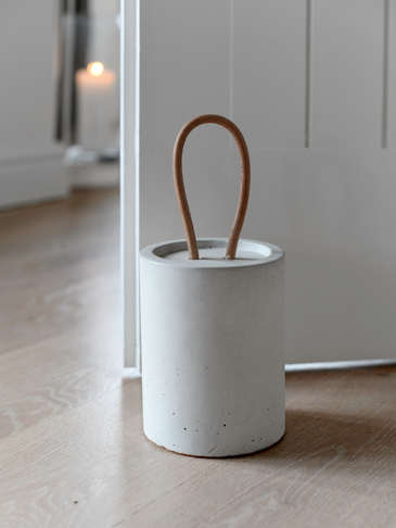 White Concrete Doorstop