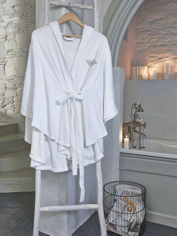 Nordic Poncho Robe - Ladies