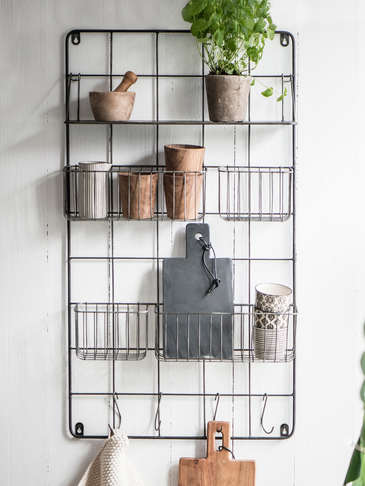 Industrial Metal Wall Rack