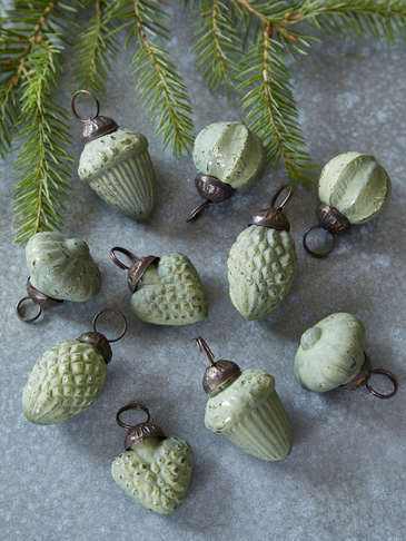 Mini Bauble Set - Soft Green