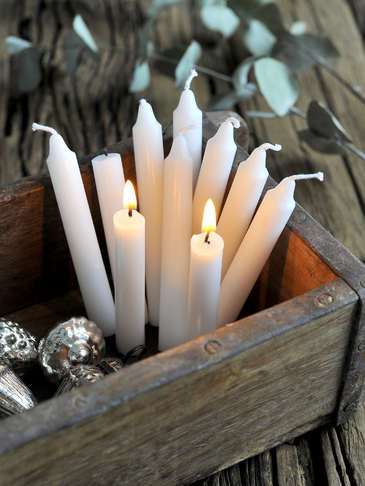 White Mini Candle Set