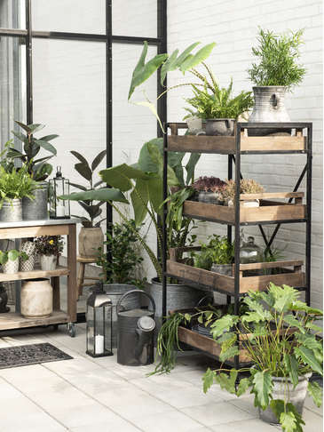 Industrial Style Shelf Unit