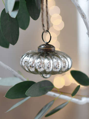 Shaped Silver Bauble