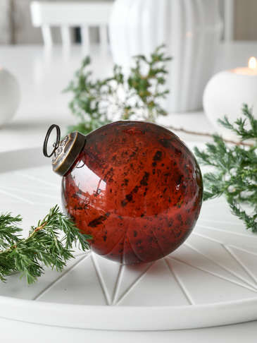 Vintage Bordeaux Glass Bauble