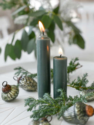 Bistro Candle Set - Dark Green