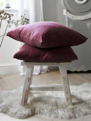 Deep Plum Linen Cushion