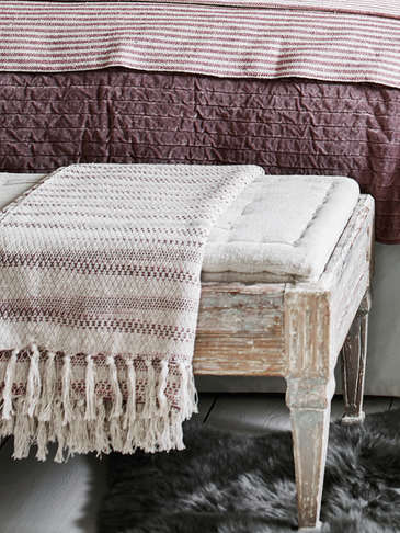 Striped Melange Throw
