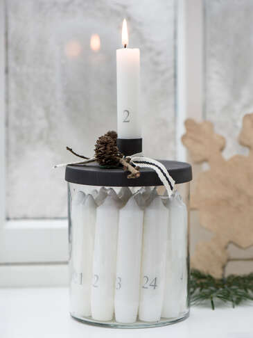 Advent Candle Jar Set