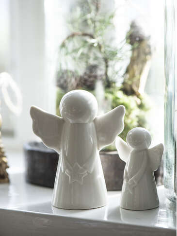 White Ceramic Angel Set
