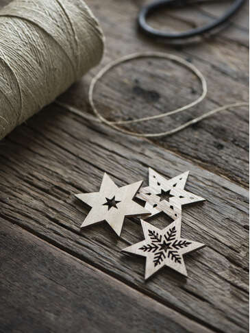 Decorative Wooden Star Set