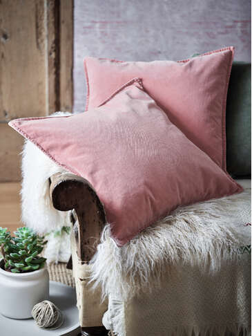 Desert Rose Velvet Cushion