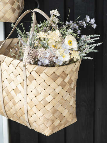 Woven Basket Bag Set
