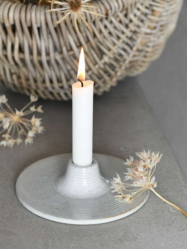 Stoneware Candle Holder