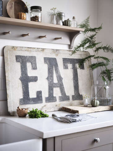 Large Retro Metal Wall Sign
