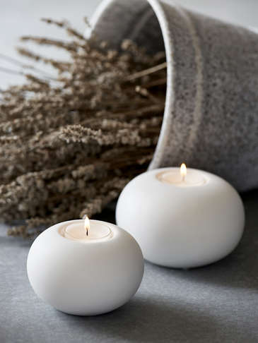 Nordic White Tealight Holders
