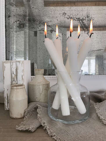 White Stearin Candles
