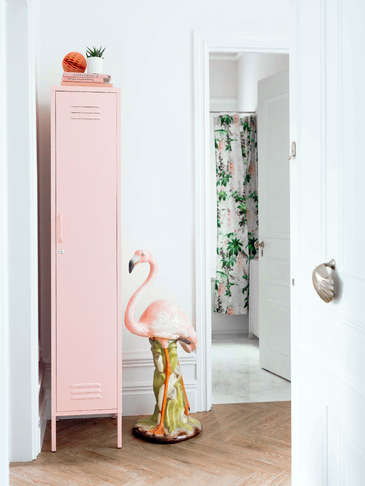 Tall Loft Style Locker - Blush Pink