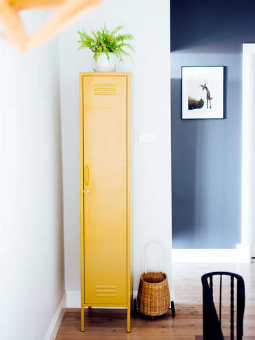 Tall Loft Style Lockers - Mustard