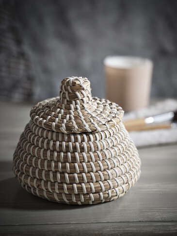 Mini Lidded Seagrass Basket