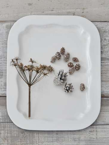 White Enamelled Tray - Large