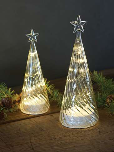 Glass LED Christmas Trees