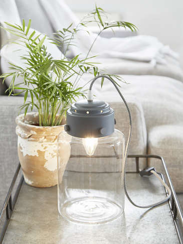 Jar Table Lamp - Dark Grey