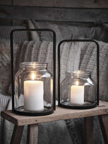 Glass Lantern Set