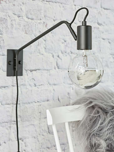 Industrial Black Wall Lamp