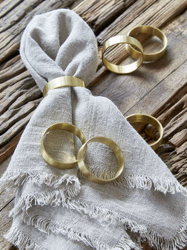 Brass Napkin Ring Set