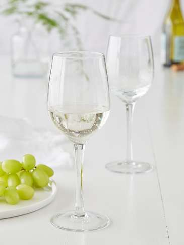 Bubble Wine Glasses - White