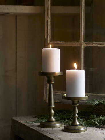 Antique Brass Candle Holders