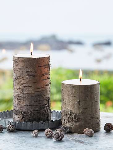 Birch Bark Candles