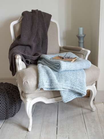 Hand knitted Throws