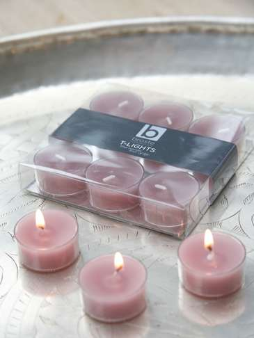 Powder Rose Clear Cup Tealights