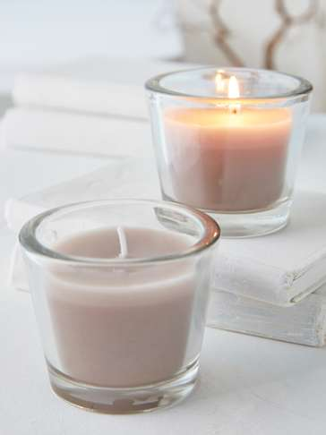 Linen Glass Candle Votive