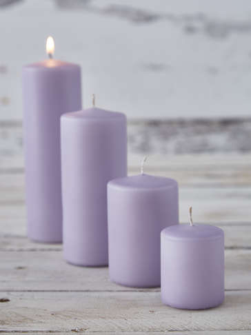 Lavender Pillar Candles